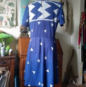 Promises Petites Dresses - VINTAGE Sailor Style Dress by Promises Petites